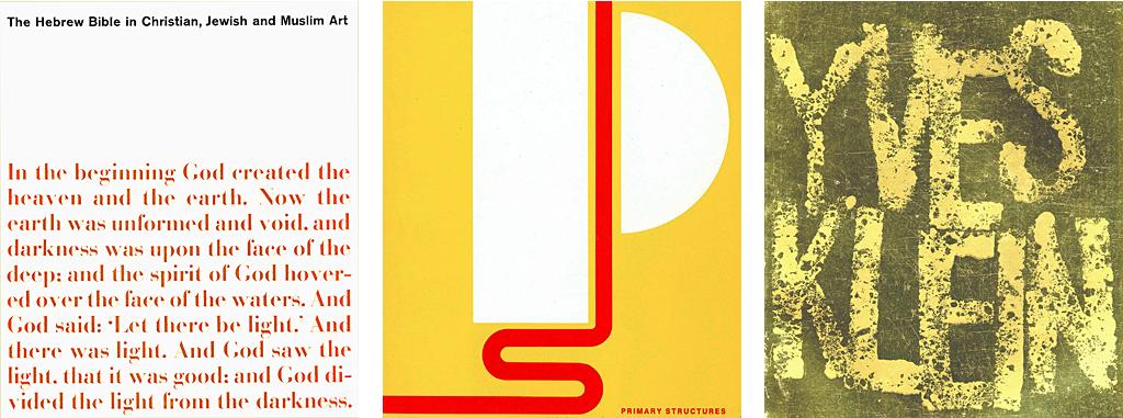 Jewish Museum Catalogs, 1963, 1966, 1967.